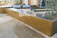 Using a smooth trowel finish and Bomanite Integral Color, our colleague Heritage Bomanite created a distinctive water feature that is tranquil and therapeutic in design and will provide long-term durability and color longevity.